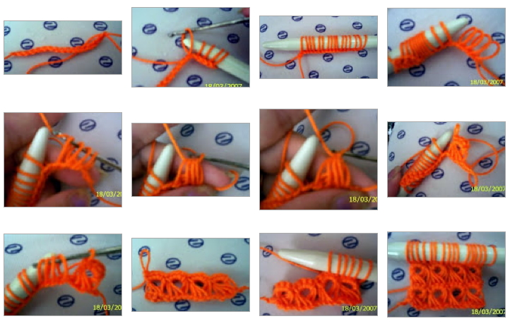 Tutorial Punto Crochet con Gancho Grueso