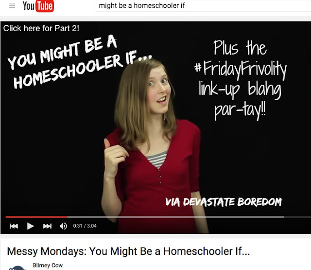You Might be a Homeschooler IF... Plus the #FridayFrivolity link-up blog party for all things fun, funny, happy & hopeful!