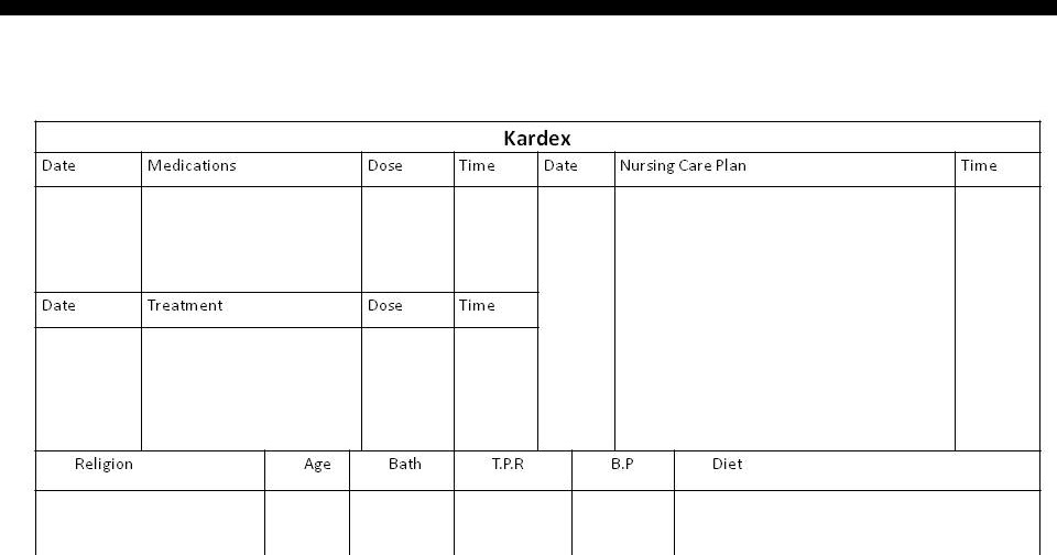 staff nurse vacancy  use of nursing kardex recording