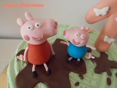 Tarta Peppa Pig buttercream