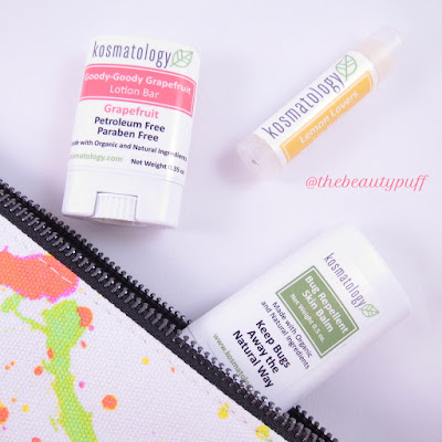 kosmatology lotion bar lip balm bug repellent - the beauty puff