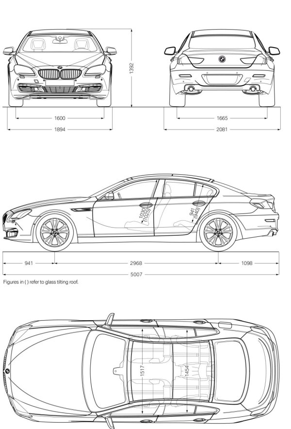 bmw 6 series dimensions auto express. Black Bedroom Furniture Sets. Home Design Ideas