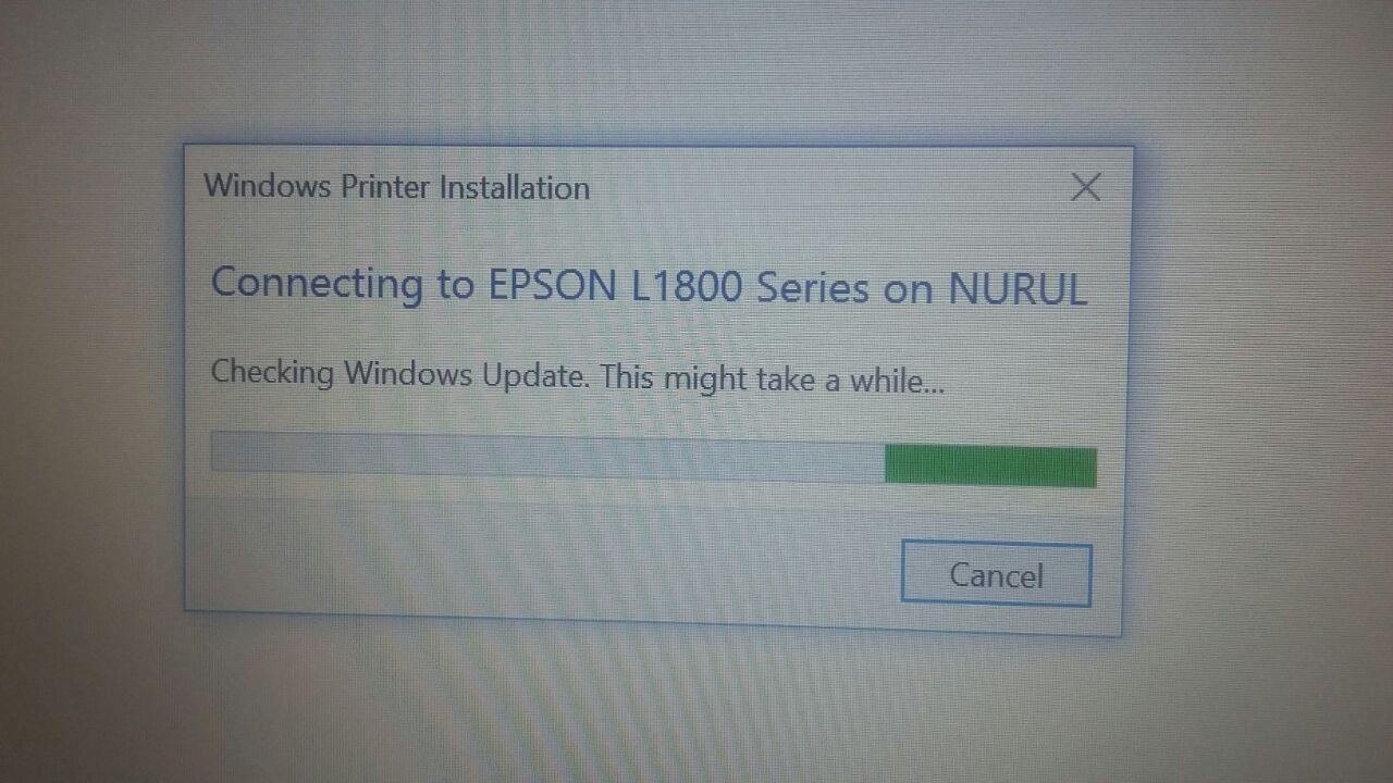 Masalah yang sering terjadi ketika Add/Connect Printer