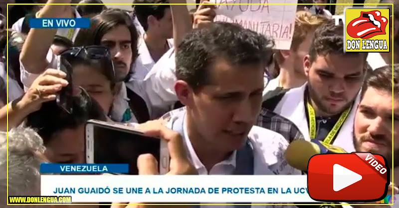 Juan Guaidó llegó a la UCV para manifestar junto al pueblo en la calle