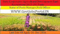 Punjab State Cooperative Agricultural Bank Recruitment 2017