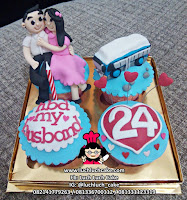 Cupcake Romantis Tema Motor dan Mobil