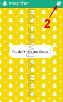 Masuk ke Setting Snapchat