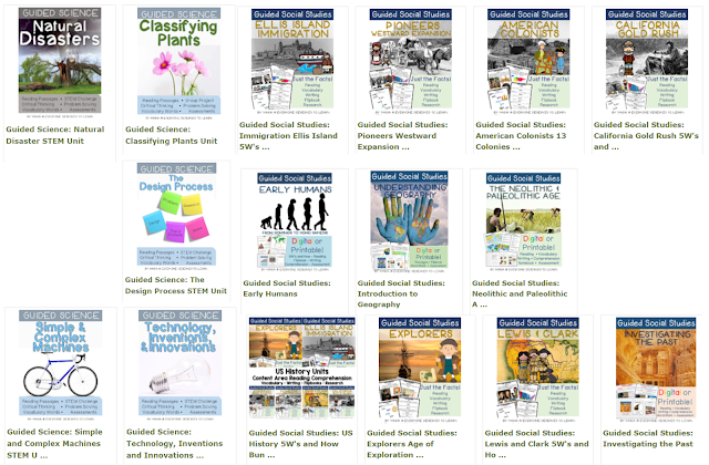 Guided Social Studies and Science Units