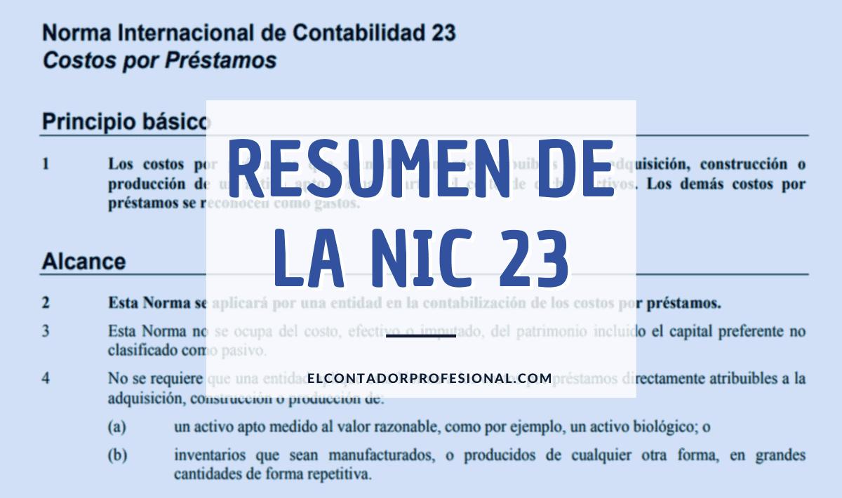 resumen nic 23