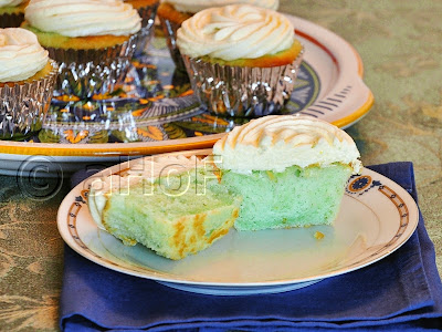 Lime Cupcakes with Malibu Rum Cream Cheese Frosting