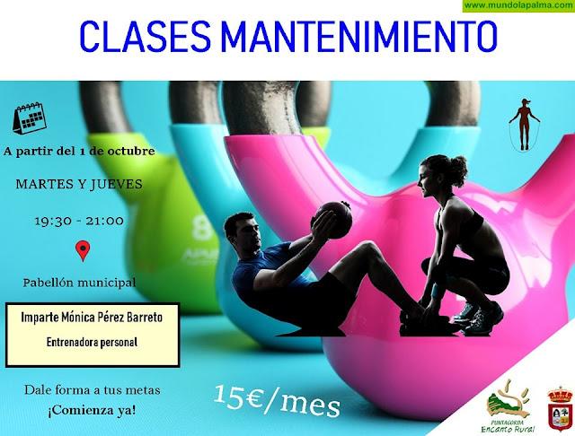 Clases de mantenimiento físico en Puntagorda