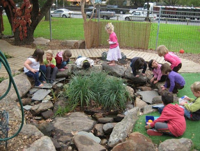 Outdoor preschool play environment