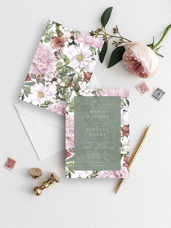 Desain undangan Flower