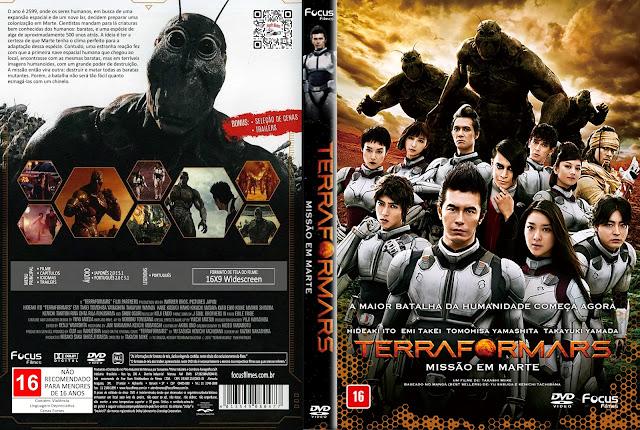 Capa DVD Terra Formars - Missão em Marte [Custom]