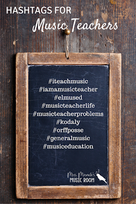 Hashtags for music teachers: Use these hashtags on Instagram to find pictures by other music teachers!