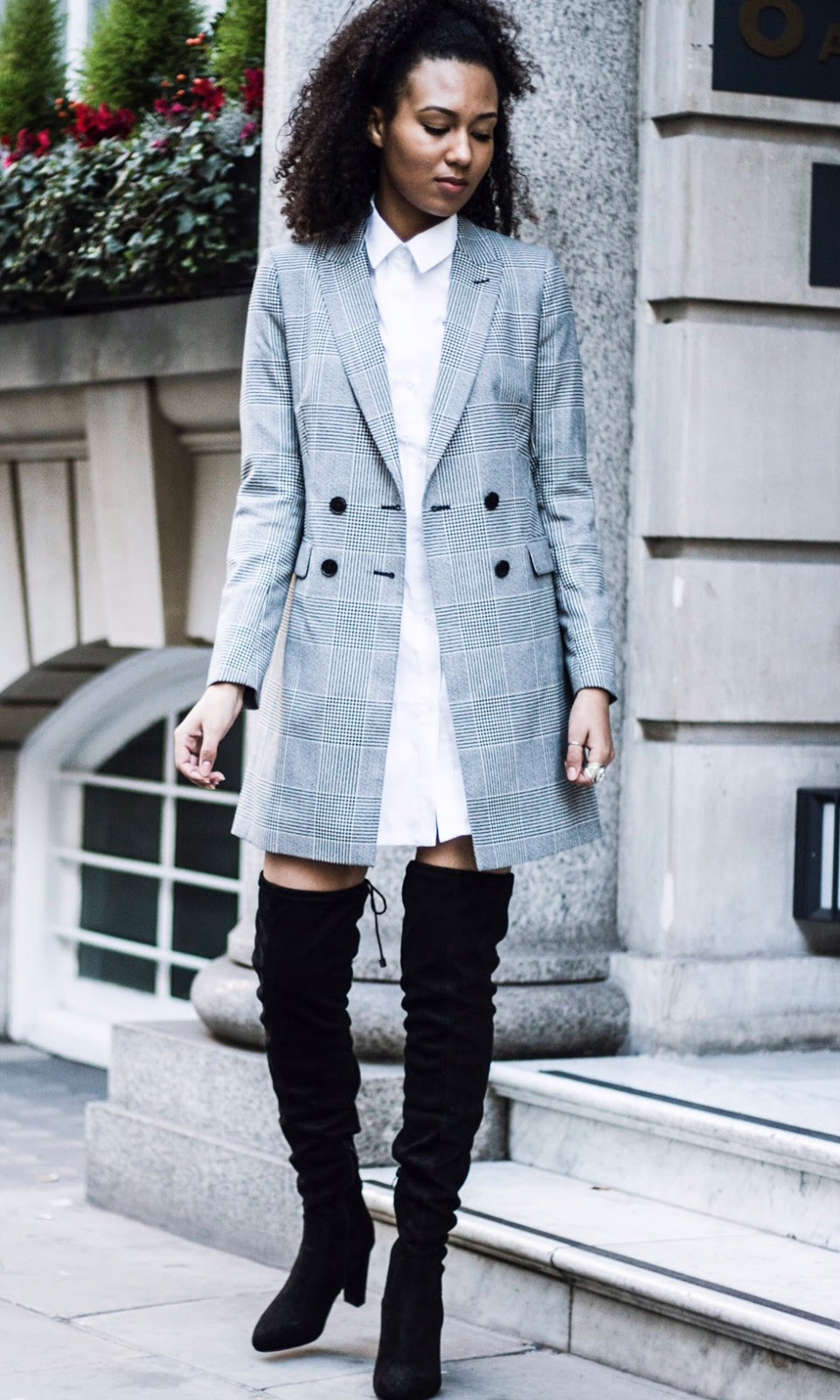 london street style fashion blogger otk boots stuart weitzman dupe