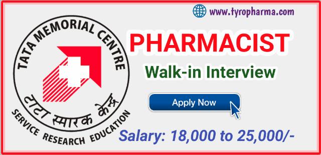 pharmacist job at tmc,pharma job,tmc,tmh,tata memorial hospital,varanasi,up pharmacist