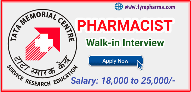 Pharmacist Job at TMC (Tata Memorial Centre)