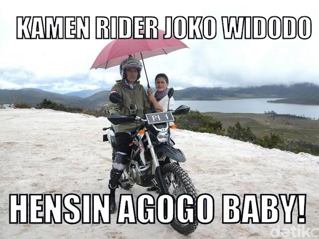Kamen Rider Joko Widodo -  Hensin Agogo Baby!