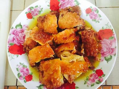 Resepi Ringkas Ayam Sos Lemon Yang Sangat Mudah