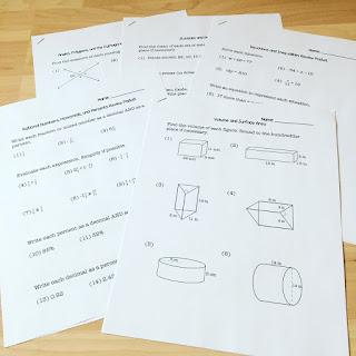 https://www.teacherspayteachers.com/Product/8th-Grade-Math-Review-Packet-Bundle-3256459