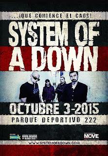 Concierto  de System Of A Down en Bogotá