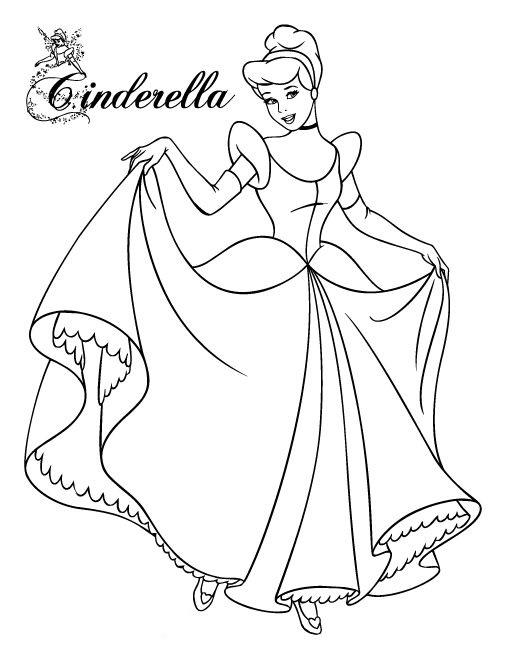 Tranh tô màu công chúa Cinderella
