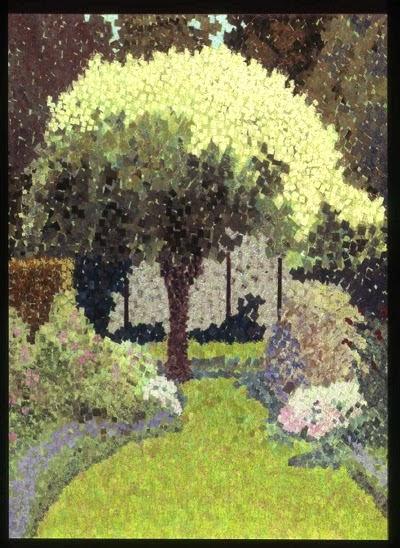 fabric art; textile art; Rebecca Hurwitz; trees;
