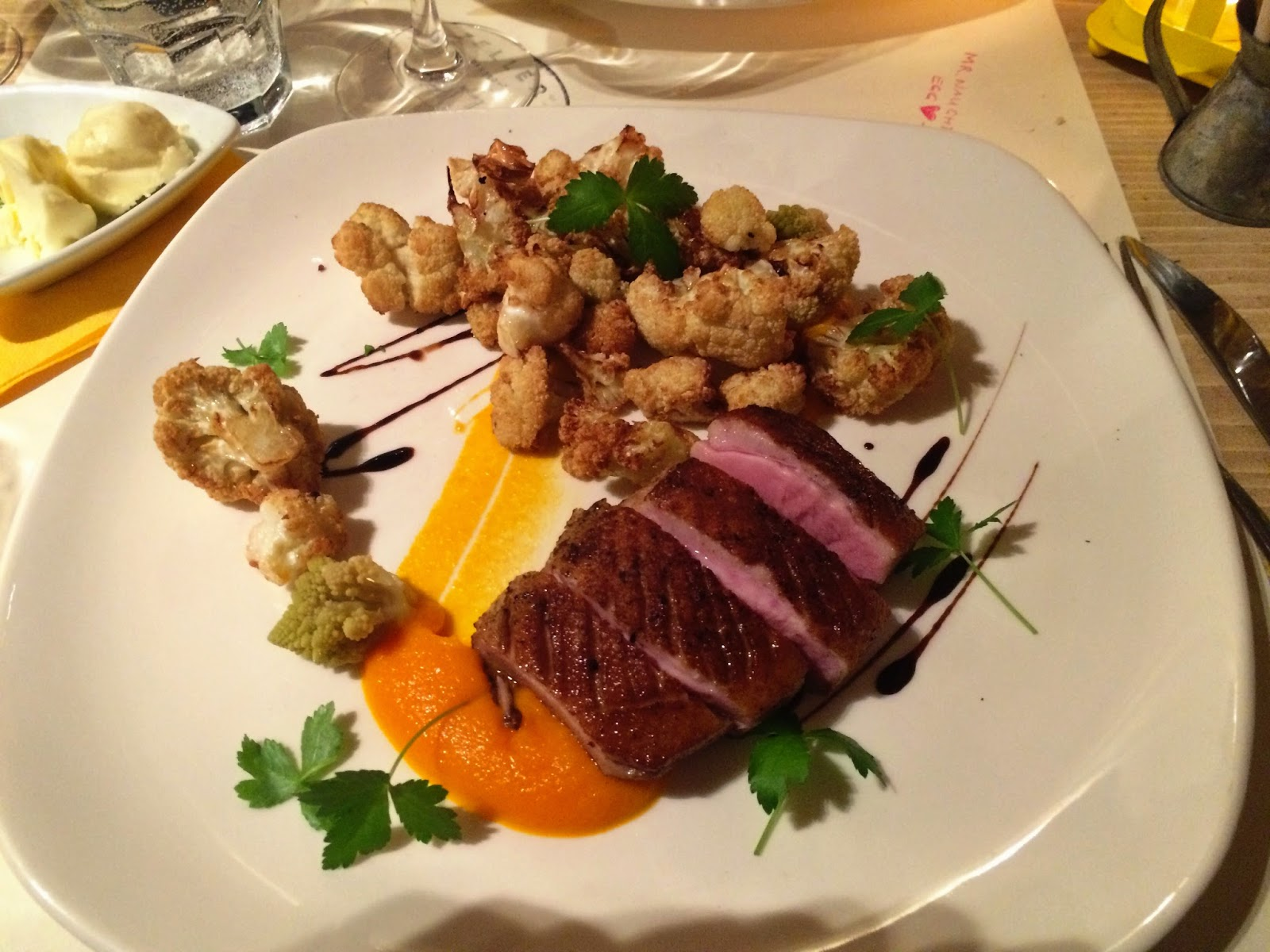 Delicious duck with cauliflower - Zeller Bistro, Budapest