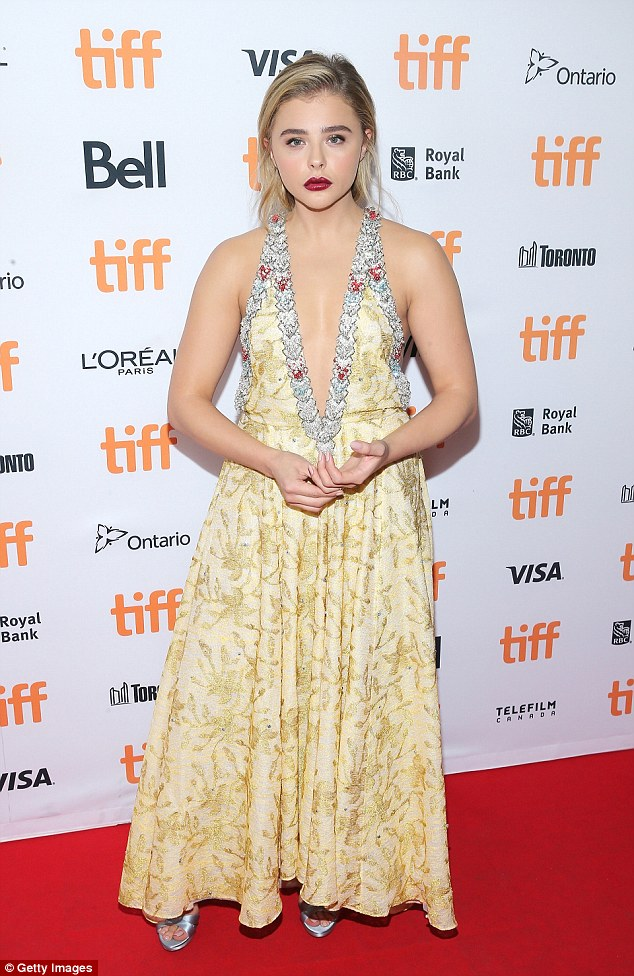 Chloe Moretz takes the plunge in ultra glamorous yellow dress at Brain On Fire premiere in Toronto