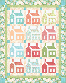 Quilt inspiration free pattern day house quilts 26 letters schoolhouses quilt 42 12 x 53 12 free pattern at connecting threads spiritdancerdesigns Gallery