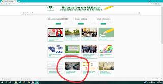NOTICIA en la web de Educación en Málaga