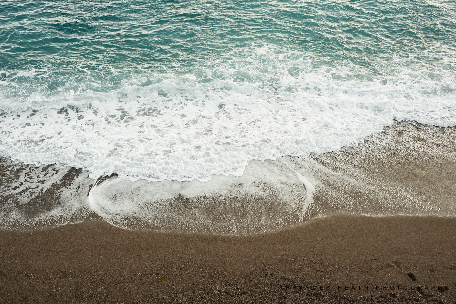 Waves on Positano beach