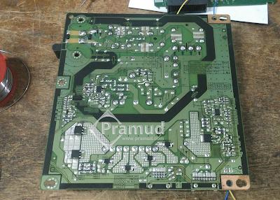 cara perbaiki cek komponen pada bagian power supply led tv samsung ua40h5003 - pramud blog