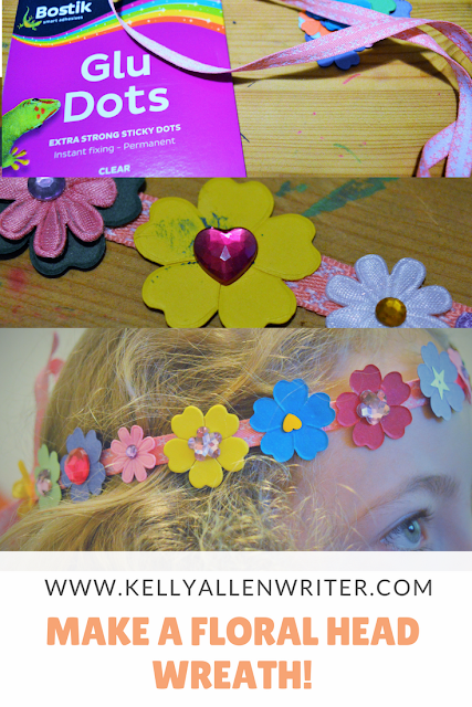 Pinterest pin with various pictures of wreath being made.