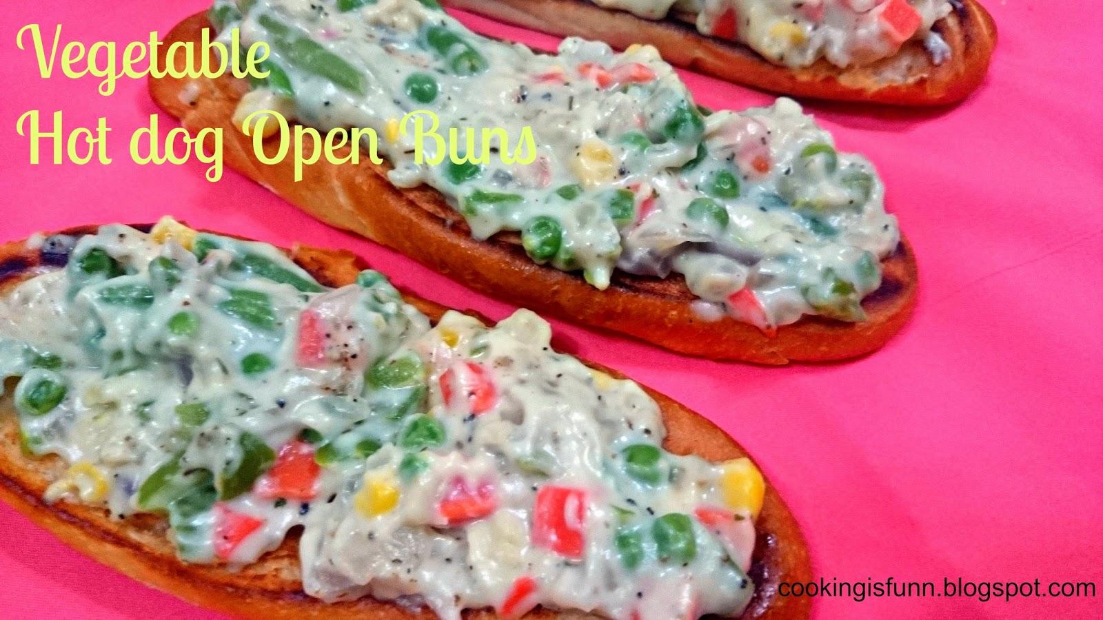 Cookingisfunn: Vegetable Open Hot Dog Buns  Cookingisfunn: ...
