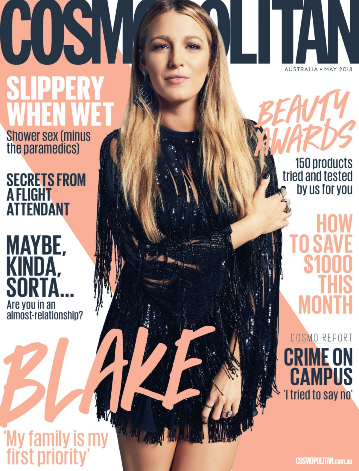BLAKE LIVELY in Cosmopolitan Magazine, Australia May 2018