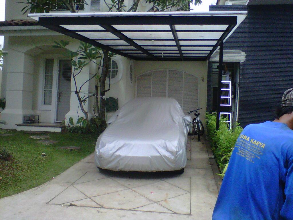 kanopi baja ringan untuk rumah minimalis rangka besi holo galvanize ~ canopy dan atap