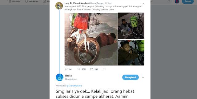 Dinsos DKI Jakarta Ungkap Kebohongan Kisah Viral Penjual Es Keliling yang Mengaku Yatim Piatu