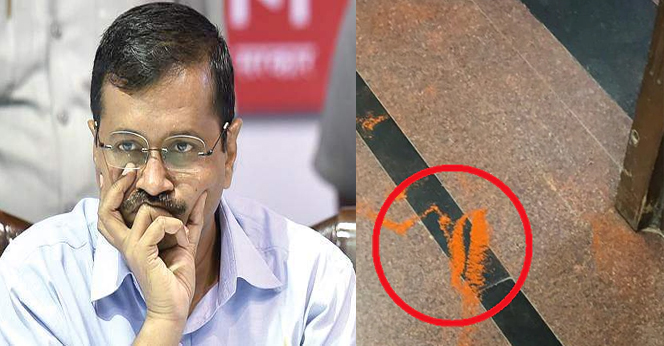 Man-Attacked-On-Kejriwal-With-Chilli-Powder