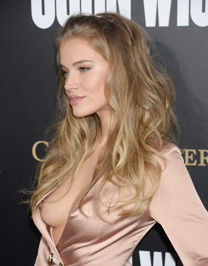 Sports Illustrated Swim model suffers nip-slip at movie premiere