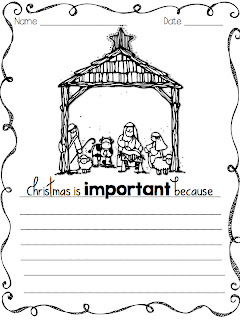 A Day in First Grade | Christmas themed word work and