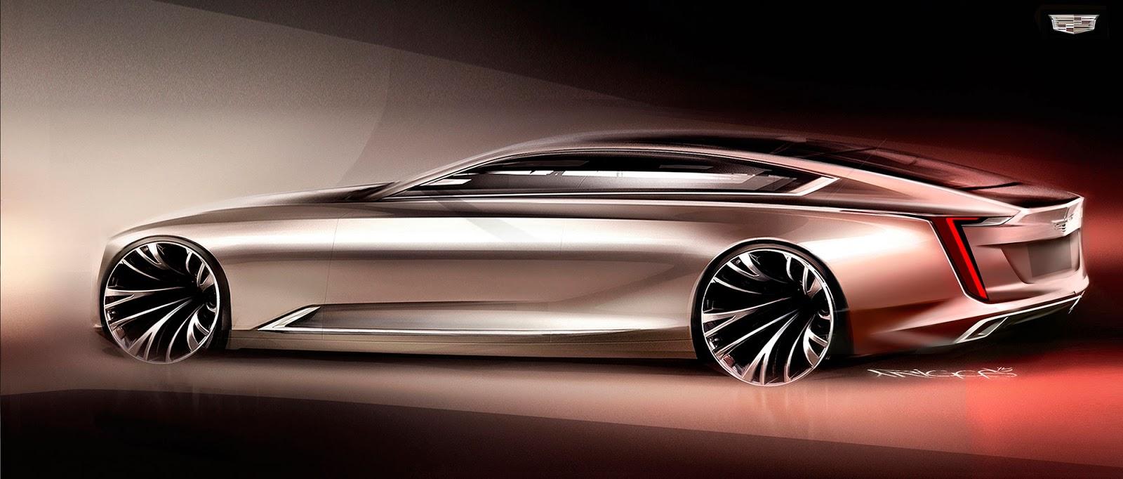 Cadillac Escala concept sketch by Aaron Riggs