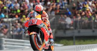 Hasil MotoGP Thailand: Marquez Tercepat Sesi Pemanasan