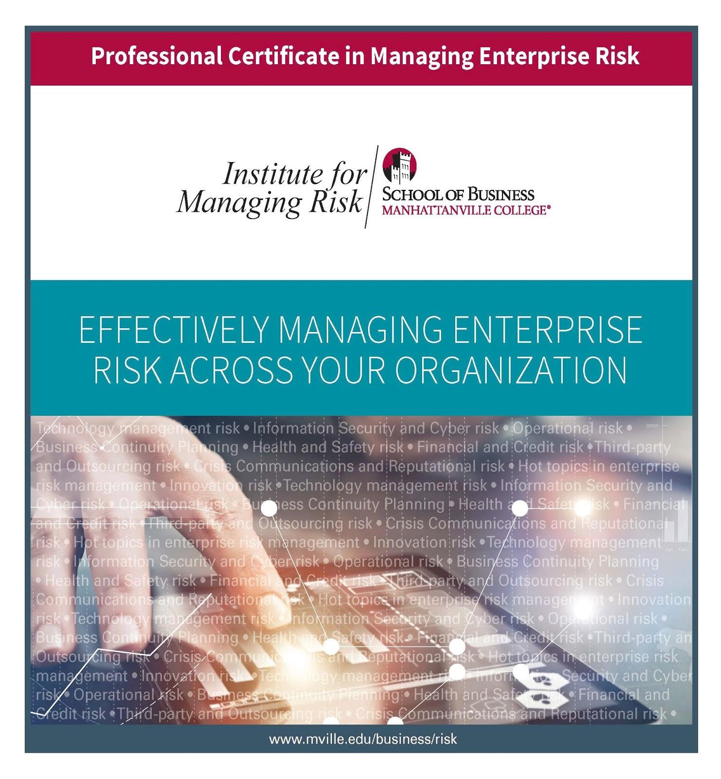 Mville Professional Studies: Why Study Risk Management?