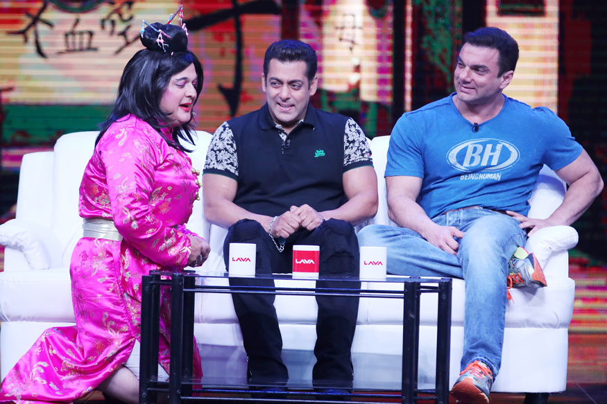 Salman Khan and Sohail Khan on The Sets of Super Night With Tubelight