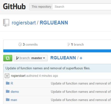 RGLUEANN package available on GitHub