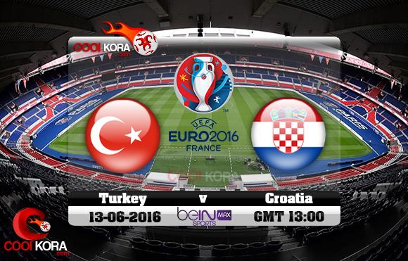 مشاهدة مباراة تركيا وكرواتيا اليوم 12-6-2016 بي أن ماكس يورو 2016
