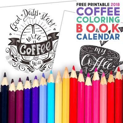 2018 coloring book calendar