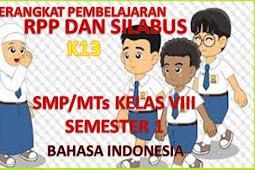 RPP dan Silabus Bahasa Indonesia Kelas 8 K13 Lengkap